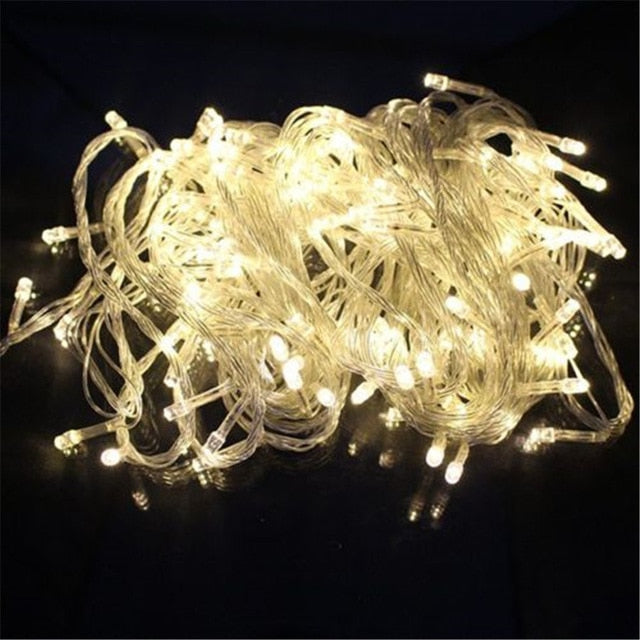 Outdoor christmas led string lights 100M 50M 30M 20M 10M 2M decorative fairy light holiday lights lighting tree garland decor - LADSPAD.COM