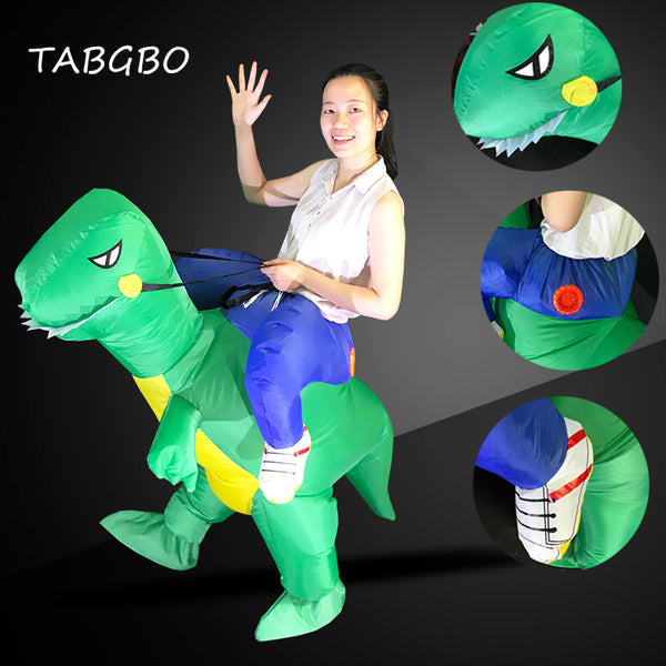 Fan Operated Inflatable Dinosaur Suit Adult Fancy Dress Suit Party Halloween Christmas Gift Inflatable mascot Cosply costume - LADSPAD.UK