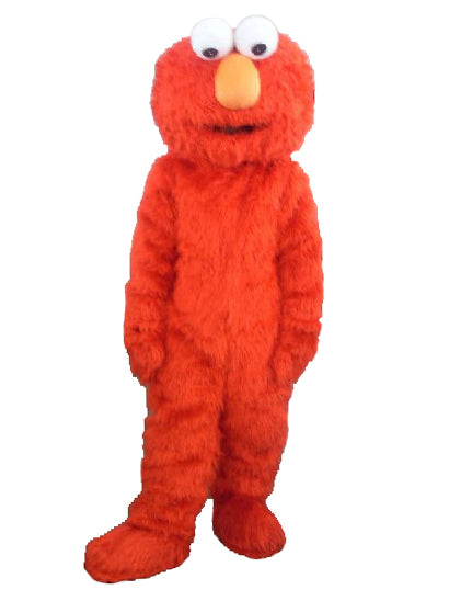 Factory direct selling high quality Long Fur Elmo Mascot Costume Character Costume Cartoon Costume Elmo Cosplay - LADSPAD.COM