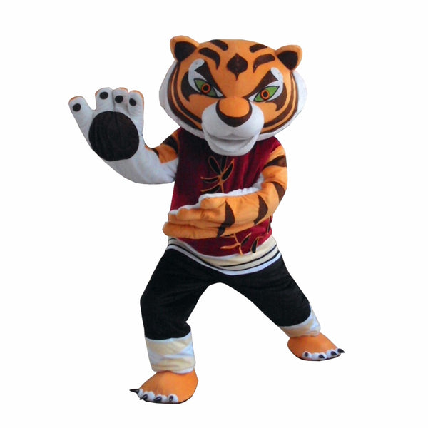 Tigress Tiger Kung Fu Panda Friend Crtoon Mascot adult Costume sales, Free Shipping - LADSPAD.UK