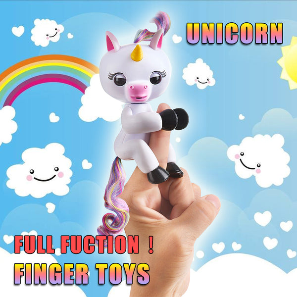 New Finger unicorn Interactive Baby Unicorn Mini Interactive Finger sloth Smart Finger monkey Smart Unicorn Toys Christmas Gift - LADSPAD.UK