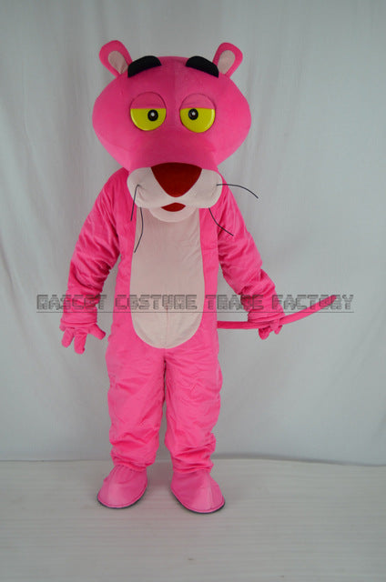 High quality Adult pink panther mascot costume sales makeup pink panther mascot costume free shipping - LADSPAD.UK