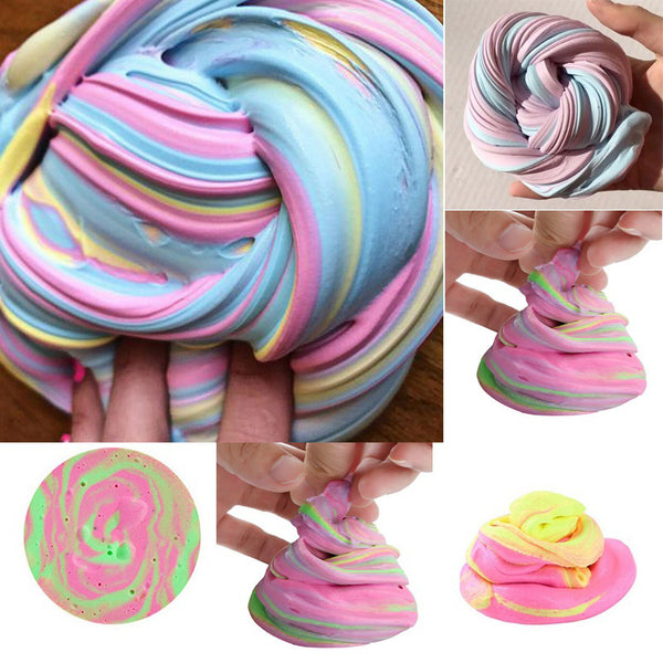 30g Safe Dynamic Fluffy Slime plastic clay Light Clay colorful Modeling Polymer Clay Sand Fidget Plasticine Gum For Handmade Toy - LADSPAD.UK