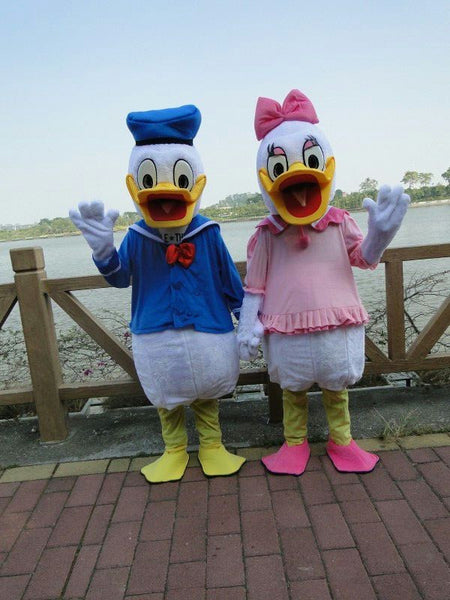 High quality adult size Donald Duck Mascot Costume sales Donald and Daisy Mascot Costume Fast  Shipping - LADSPAD.COM