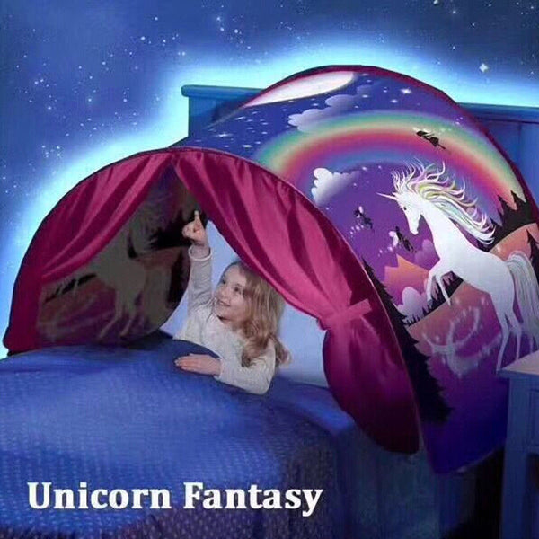 2017 Newest Fashion Dream Tents Cute Unicorn Fantasy Foldable Tent Kids Play Tent baby Playing Tent Free - LADSPAD.COM