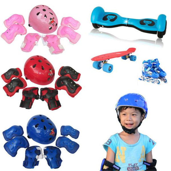 B2 7pcs Kid Child Self Balancing Bike Bicycle Roller Knee Elbow Wrist Helmet Pad Set Kit Wholesale&Retail - LADSPAD.COM