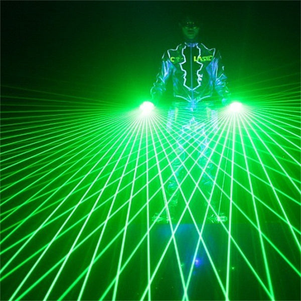 Laser Gloves DJ Tunnel Effect Auto Rotating Vortex Laser Glove Laser hand light for DJ Dance Party Club red green - LADSPAD.COM