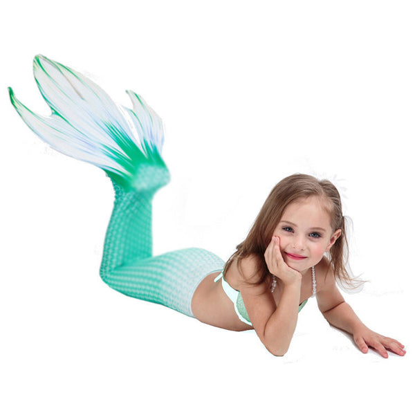 4 Paws Kids Mermaid Tial Swimmable Mermaid Tails for Swimming Zeemeerminstaart Tail Swimwear Cosplay Costume - LADSPAD.COM
