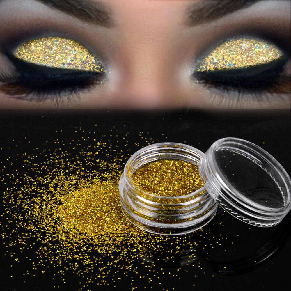 Sparkly Makeup Glitter Loose Powder EyeShadow Gold Eye Shadow Pigment - LADSPAD.UK