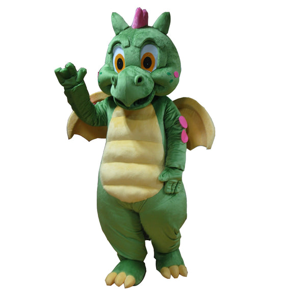 Free shipping Hot sell green dragon mascot costume for adults - LADSPAD.COM