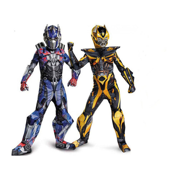 Kids Boys Cosplay Movie Muscle Optimus Prime costumes Boys Bumblebee Superhero Body Suits for Carnival Halloween Costumes Party - LADSPAD.UK