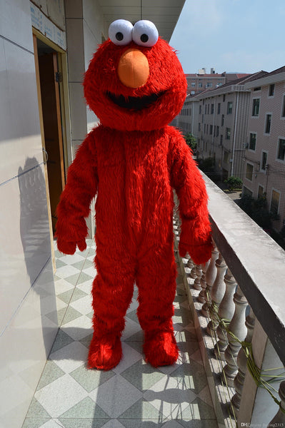 Factory direct selling high quality Long Fur Elmo Mascot Costume    Cartoon Character Costume  for Cosplay - LADSPAD.UK