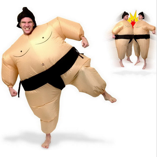 New Inflatable Sumo Costume Halloween Party Fancy Costume For Adults With Free Shipping - LADSPAD.UK