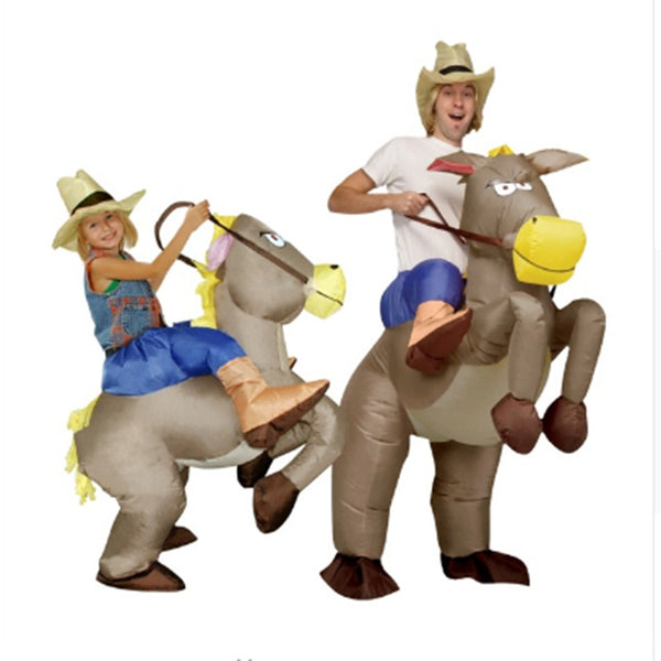 Inflatable cowboy Dinosaur costume Ride on horse Cosplay Fancy party dress Halloween costumes for Women - LADSPAD.UK