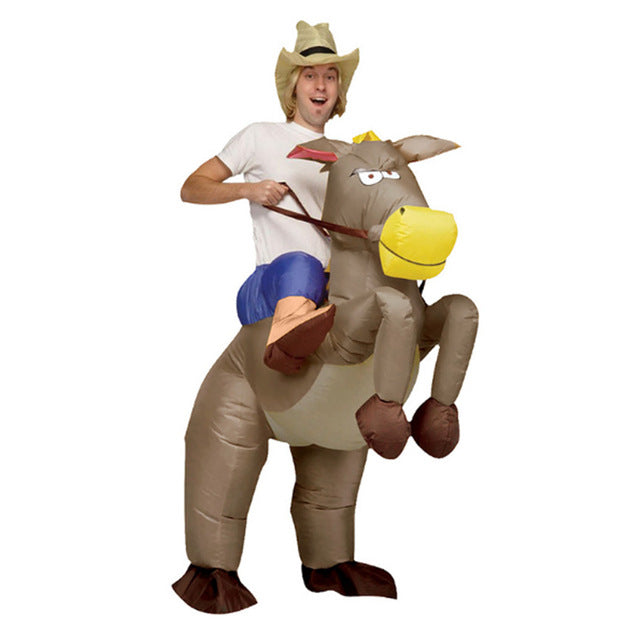 Inflatable cowboy Dinosaur costume Ride on horse Cosplay Fancy party dress Halloween costumes for Women - LADSPAD.COM
