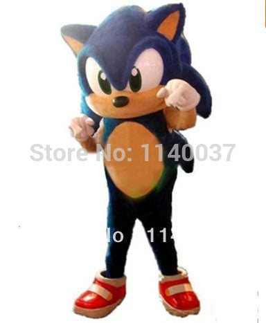 mascot Hedgehog Mascot Costume Adult Size  Blue Knuckles Sonic the Hedgehog Mascotte Outfit Suit - LADSPAD.COM