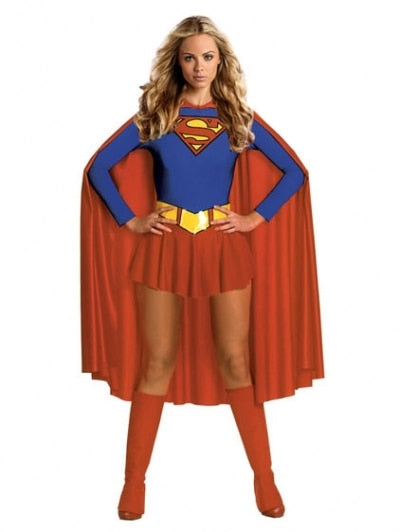 Free shipping  Fancy Hero Ladies Girl Wonder Sexy Superhero Superwoman Supergirl Outfit  plus size S-3XL - LADSPAD.COM