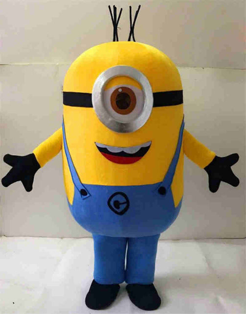 o Despicable minion mascot costume for adults despicable mascot costume - LADSPAD.COM