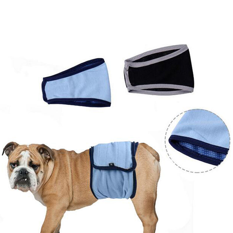 Male Pet Dog Solid Belly Band Wrap Toilet Training Diaper Nappy Sanitary - LADSPAD.COM