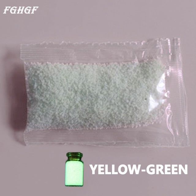 FGHGF 10g Luminous Sand DIY Fluorescent Super luminous Particles Glow Pigment Bright Glow Sand Glowing in the Dark Sand - LADSPAD.COM