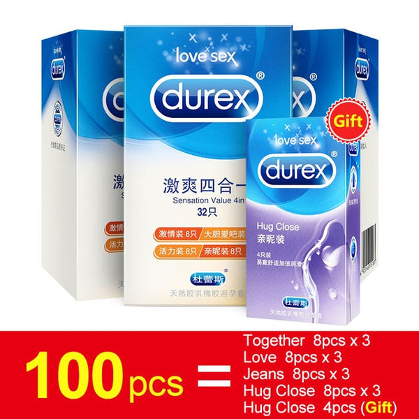 Durex Condoms Ultra Thin Sensation Penis Cock Sleeve Natural Latex with Extra Lubricated Condoms Intimate Goods Sex Toy for Men - LADSPAD.COM