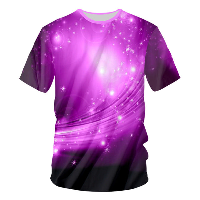 UJWI Sound Activated Led T Shirt Purple Light Up And Down Flashing Equalizer EL 3D T-Shirt Men For Rock Crewneck DJ Tops Tee - LADSPAD.COM