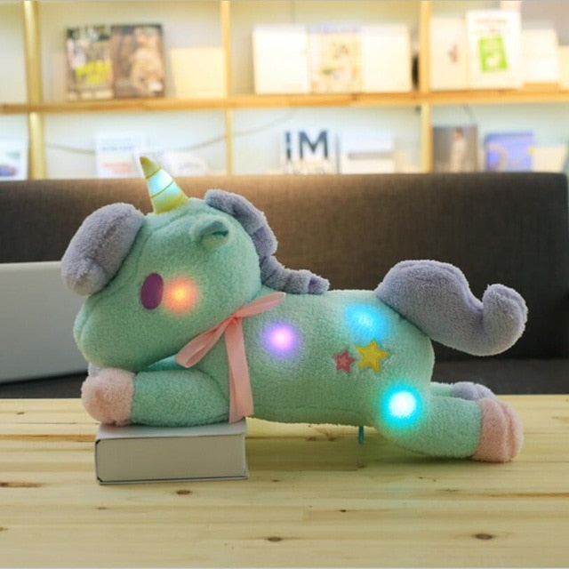 The new 55cm large super cute light colorful plush toy Unicorn light pillow Home Furnishing decoration office sleeping pillow - LADSPAD.UK