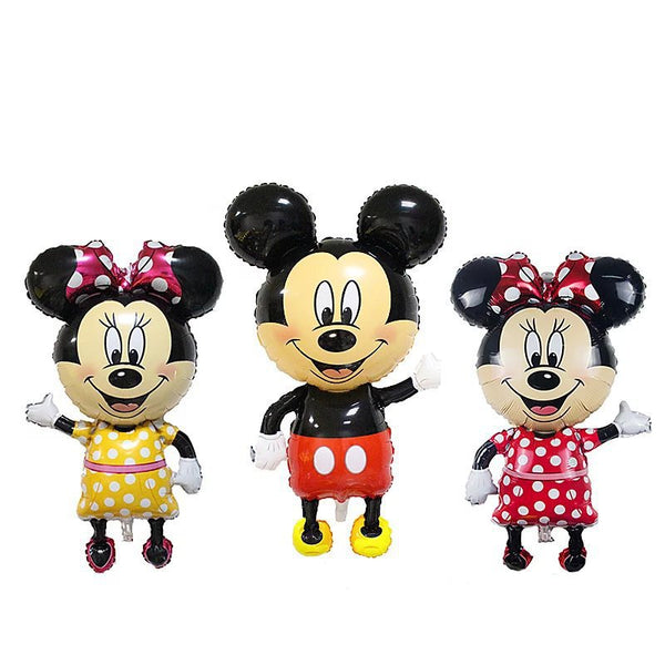 110cm Giant Mickey Minnie Inflatable Toys Cartoon Foil Birthday Party Balloon Airwalker Balloons for Kids Baby Toys - LADSPAD.COM