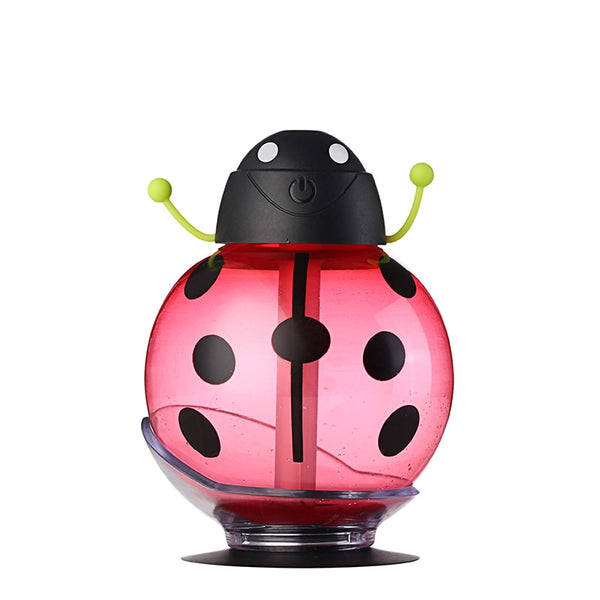 Mini USB Car Air Humidifier Ultrasonic Beetles Humidifier Bottle Led Lights Household Diffuser For Home and Office - LADSPAD.COM