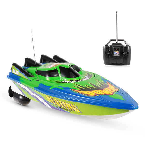 Remote Control Boat Ship 27MHZ ABS Radio Control Racing Boat RTR Electric Ship RC Waterproof Toy Brushed motor Built in battery - LADSPAD.UK