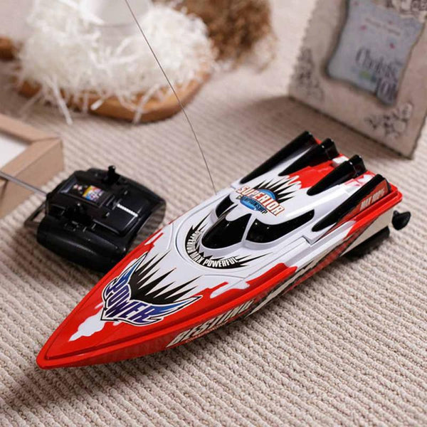 New Arrival Radio Remote Control Twin Motor High Speed Boat RC Racing Outdoor Red/Green - LADSPAD.UK