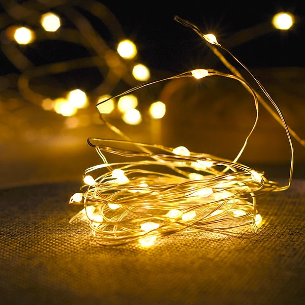 1-10M Copper Wire LED String lights night light Holiday lighting For Garland Fairy Christmas Tree Wedding Party Decoration - LADSPAD.UK