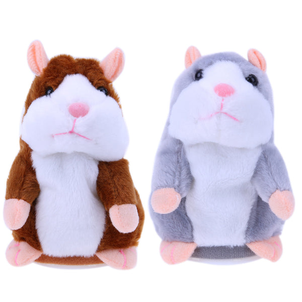 Kids Hamster Plush Speak Sound Toys Baby Electronic Pets Toys Cute Plush Dolls Sound Record Speaking Hamster Talking Toy Gift - LADSPAD.UK