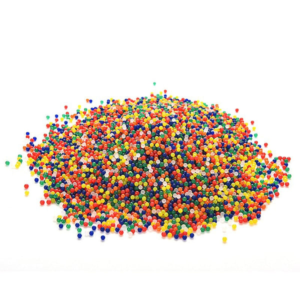10000pcs colored orbeez soft crystal soil beads grow water beads mud magic jelly balls water toys - LADSPAD.UK