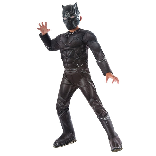 Boys Civil War Black Panther Deluxe Costume - LADSPAD.UK