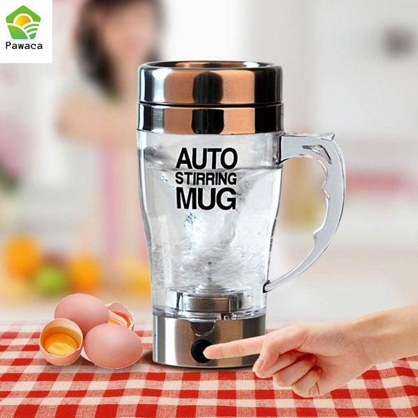 Self Stir Mug Automatic Coffee Milk Mixing Mug Smart Mixer Cup Thermal Cup Double Insulated Cup Electric Protein Shaker Blender - LADSPAD.COM