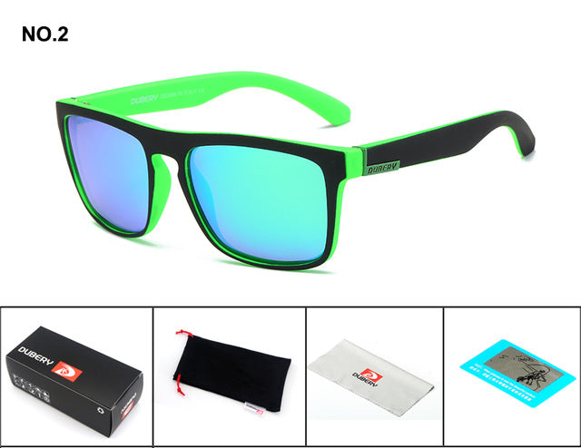 DUBERY Polarized Sunglasses Men's Driving Shades Male Sun Glasses For Men Retro - LADSPAD.COM