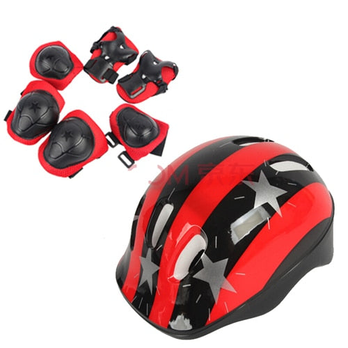 Bicycle Helmet Children Roller Skating Skateboard Elbow Knee Pads Wrist Sport Protection Safety Guard Knee Pads - LADSPAD.COM