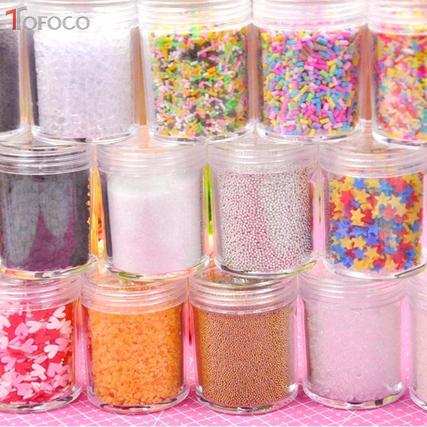 TOFOCO 30g Slime Clay Sprinkles For Filler For Slime DIY Supplies Candy Fake Cake Dessert Mud Decoration Toys Accessories