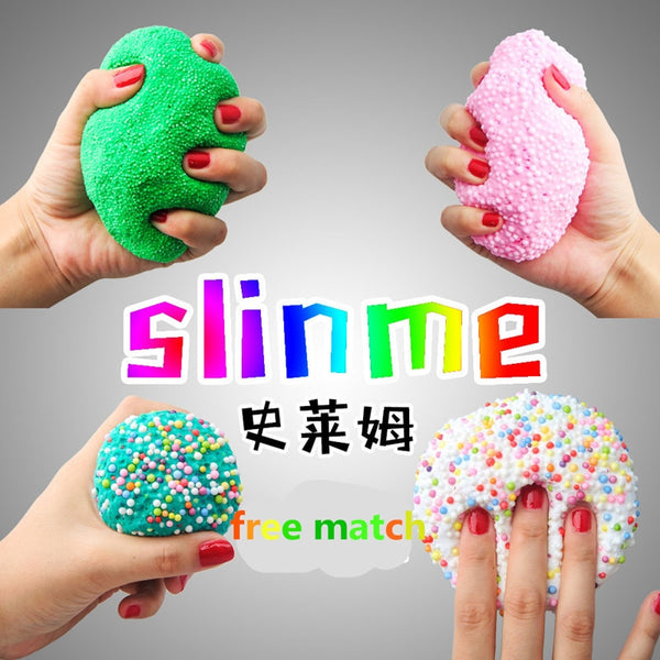 Colorful Fluffy Floam Slime Scented Stress Relief No Borax Kids Toy antistress Sludge Cotton Mud Release Clay Toy Plasticine - LADSPAD.UK