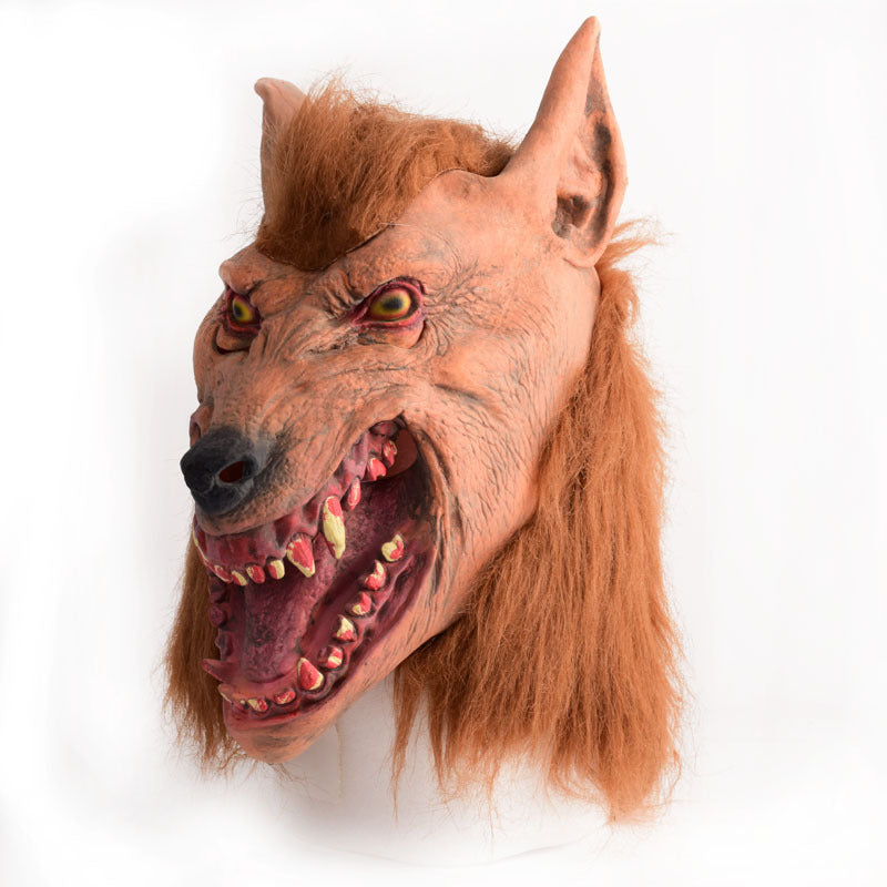 Halloween Wolf head latex Rubber Mask - LADSPAD.COM