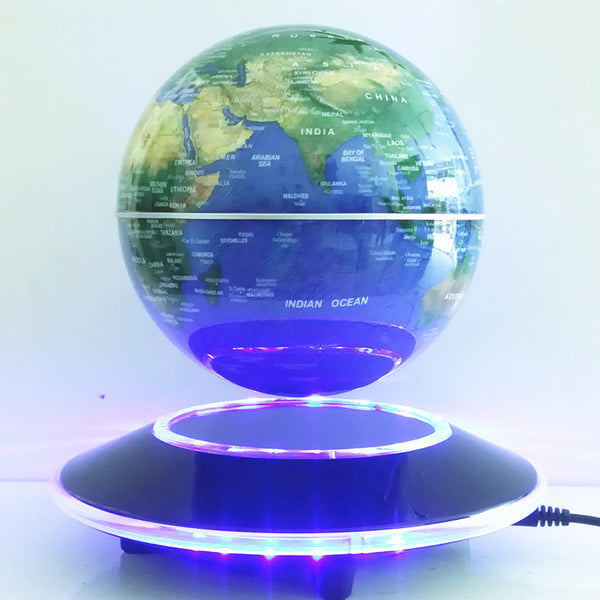 Electronic Magnetic Levitation Floating Globe World Map with LED Lights - LADSPAD.UK