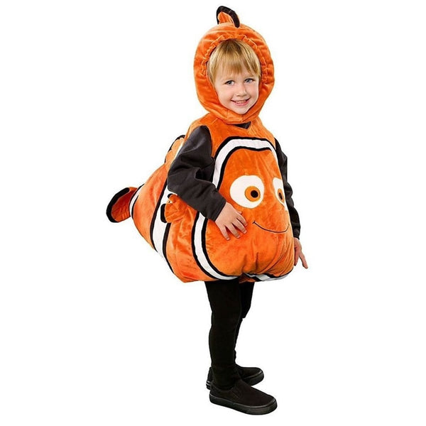 Deluxe Adorable Child Clownfish From Pixar Animated Film Finding Nemo Little Baby Fishy Halloween Cosplay Costume Age 2-7 Years - LADSPAD.UK