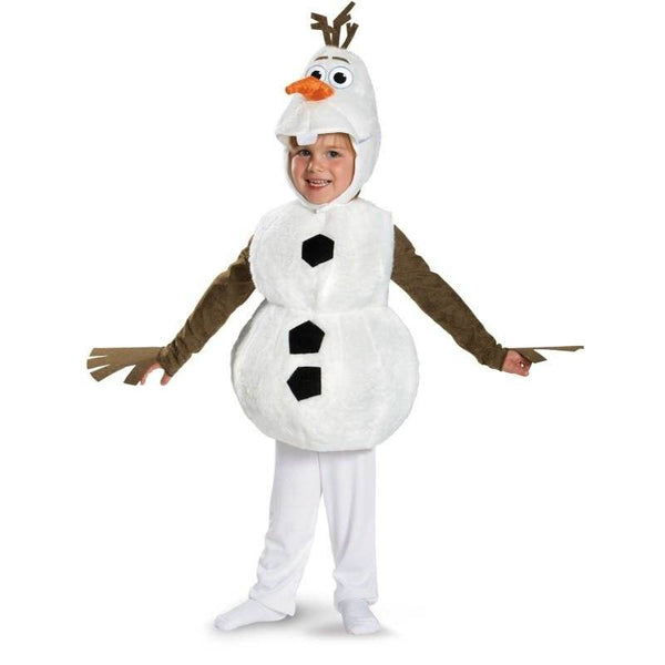 Comfy Deluxe Plush Adorable Child Olaf Halloween Costume For Toddler Kids Favorite Cartoon Movie Snowman Party Dress-up 18m-7y - LADSPAD.COM