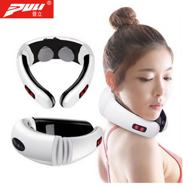 Electric Pulse Neck Massager Cervical Vertebra Impulse Massage Physiotherapeutic Acupuncture Magnetic Therapy Relief Pain Tool - LADSPAD.COM
