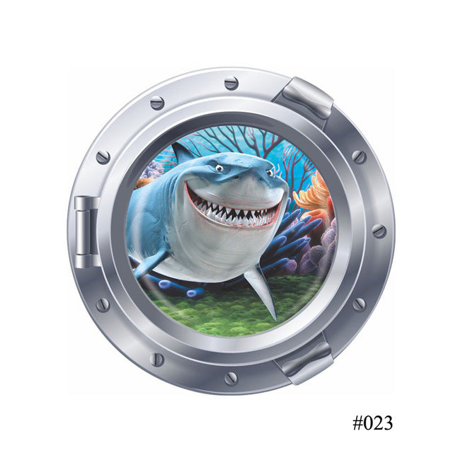 Windows Wall Stickers  Baby Boy Girl  Children's Room Finding Nemo Wall Decals Art Washing Machine Decoration - LADSPAD.COM