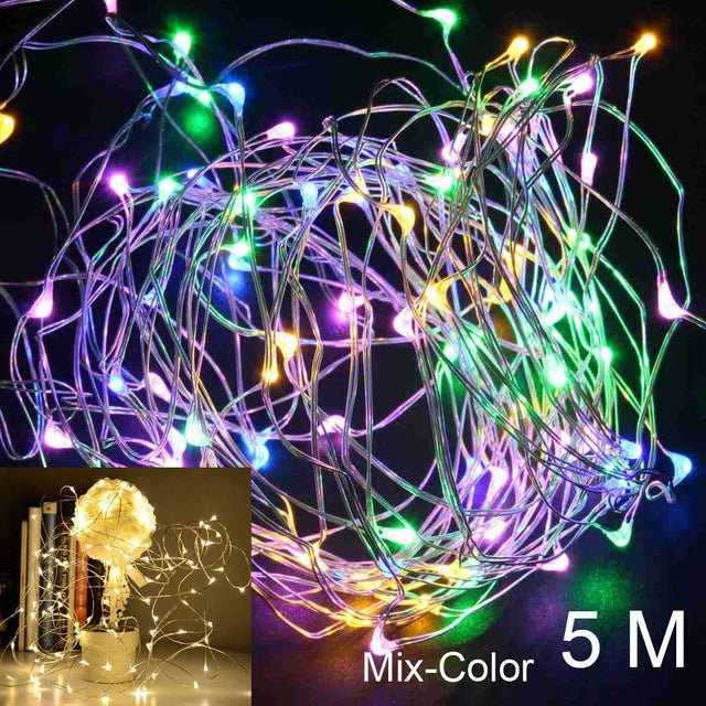 QIFU 2m 5m LED String Light Christmas Tree Decoration Ornament Christmas 2018 Merry Christmas Decorations for Home Noel New Year - LADSPAD.COM