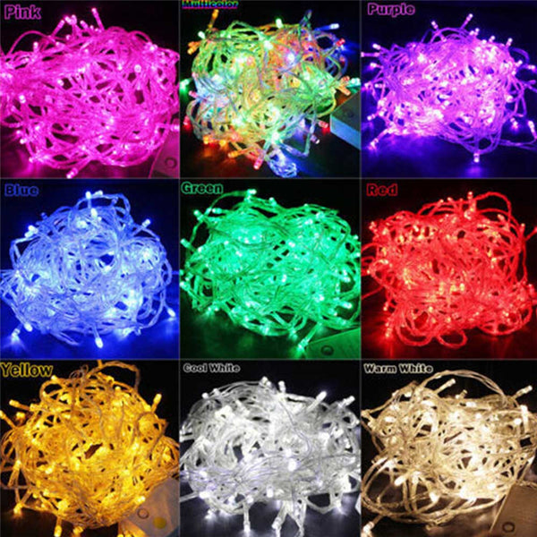 BHomify 10M 100 Led String Garland Christmas Tree Fairy Light Luce Waterproof Home Garden Party Outdoor Holiday Decoration - LADSPAD.COM