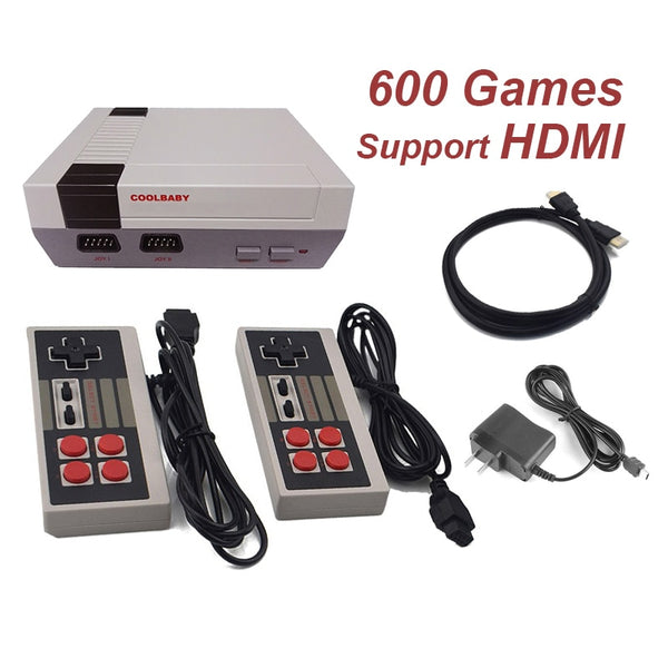 Mini TV Retro Game Console Support HDMI Retro Video Game Console Built-in 8-Bit 600 Classic Games Handheld Game Player - LADSPAD.COM