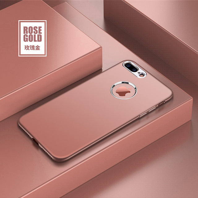 Case For iPhone 7 8 6 6S Plus X XR XS Max Luxury Soft Silicone+Metal Bumper Candy Full Cover ON THE For iPhone 5 5S SE Cover - LADSPAD.COM